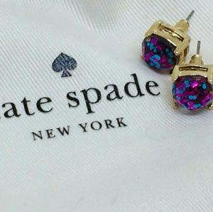 Kate Spade Purple & Blue CONFETTI Stud Earrings